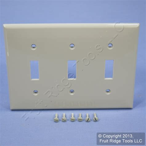 leviton unbreakable gray 3 switch cover wall plate