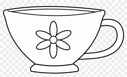 Cup Coloring Tea Party Clip Teacup Clipart