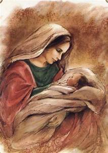 Beautiful painting of Mother Mary & Baby Jesus | Paintings ...