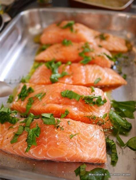 cuisiner le saumon frais pavés de saumon au four la recette facile marciatack fr