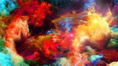 Abstract Space Colorful Stars Qhd Background