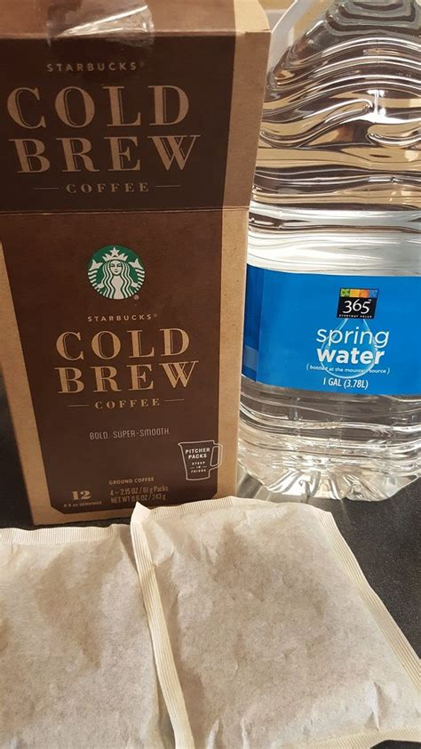 Each box contains four pitcher packs, which together make two full pitchers of cold brew (about twelve 8 fl oz servings). Melody Reviews the Starbucks Easy Cold Brew at Home Pitcher Packs. - StarbucksMelody.com