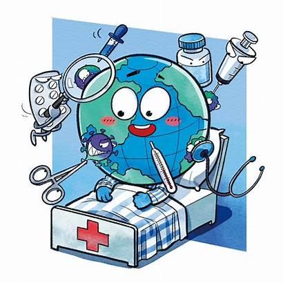 Covid Coronavirus Vaccine Cartoon Fight Quarantine China