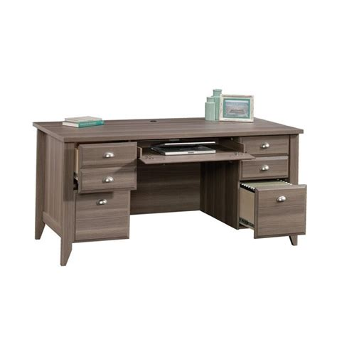 sauder shoal creek desk ash executive desk in ash 418656