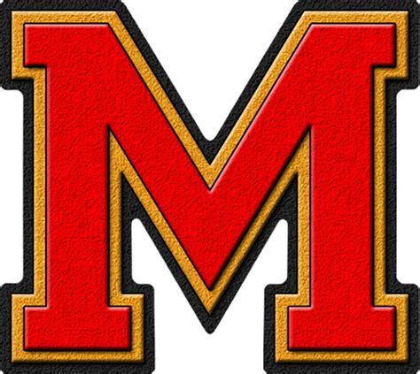home design 3d presentation alphabets scarlet gold varsity letter m