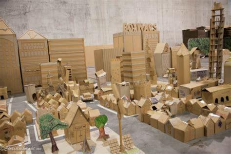 incredible examples  cardboard city art bored art