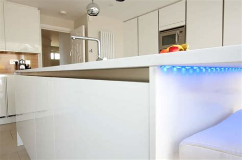 kitchen island with recessed led lighting modern
