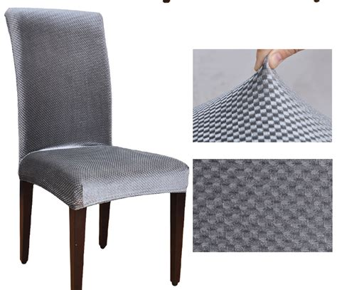 housse chaise lycra velvet fabric universal elastic dining chair covers