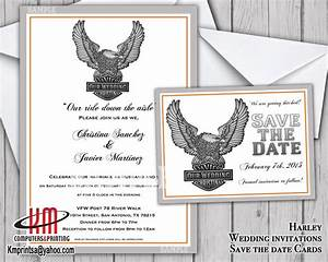 harley davidson wedding invitation save the date card With harley davidson wedding invitations free