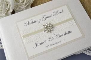 guest book wedding ivory personalised wedding guest book vintage lace wedding guest book ebay