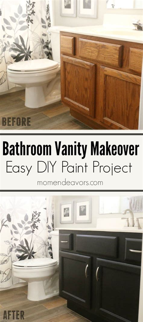Painting Bathroom Cabinets Color Ideas by Bathroom Vanity Makeover Easy Diy Home Paint Project