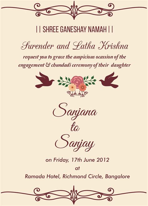 Free Engagement invitation wordings Check it out Trk in