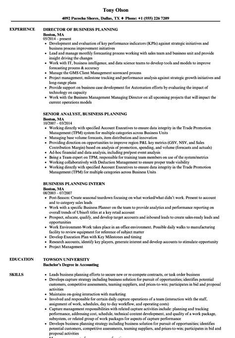 business planning resume templatedosecom