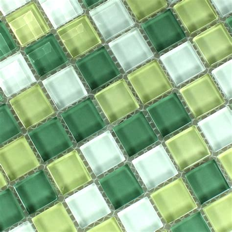 glass mosaic tile yellow green 25x25x8mm www
