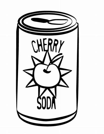 Coloring Pages Drinks Soda Coke Drawing Drink