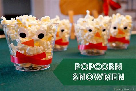kid snacks and link up a healthy slice of 987   healthy christmas snacks for kids popcorn snowmen 1