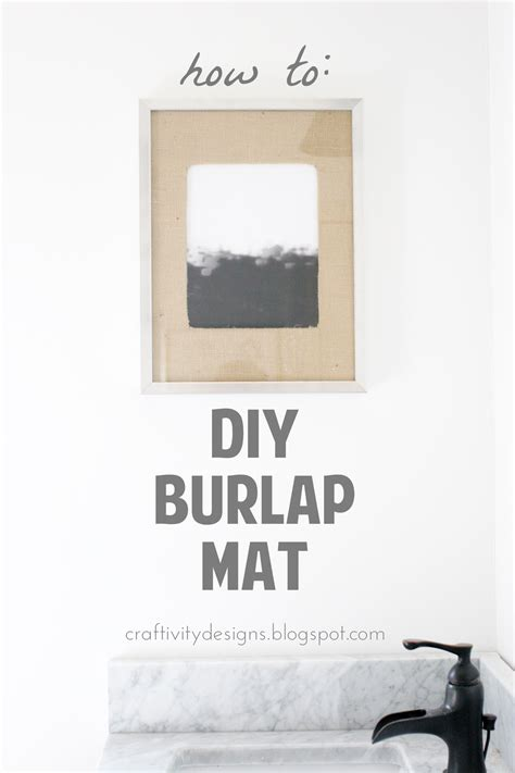 how to mat a print a simple tip burlap matted frame craftivity designs