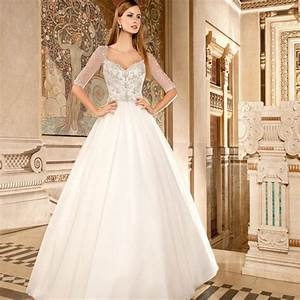 2016 half sleeve wedding gowns sweetheart bling bling With sparkly wedding dresses with sleeves