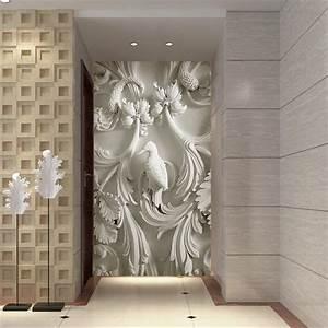 wall paper 3d art mural HD European classic embossed