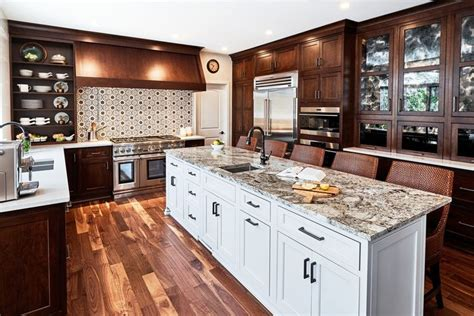 warm kitchen  beautiful blue dunes granite