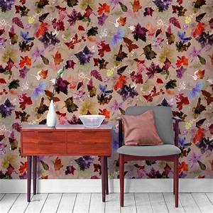Floral Botanical Wallpaper Autumn Flurry Design Bold Home