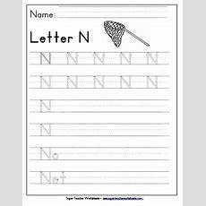 Letter N Worksheets  Recognize, Trace, & Print
