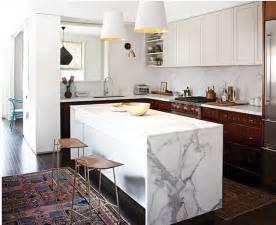 Marble Island Kitchen Waterfall Kitchen Island Inspiration
