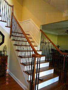 Wood Stairs And Rails And Iron Balusters  How To Replace