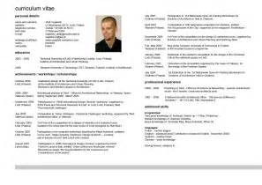 CV Resume Curriculum Vitae English