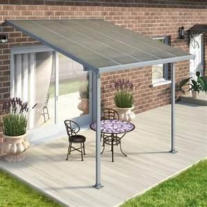 Toit Terrasse Aluminium : toit de terrasse 3x3m anthracite et polycarbonate 8mm patio ~ Edinachiropracticcenter.com Idées de Décoration