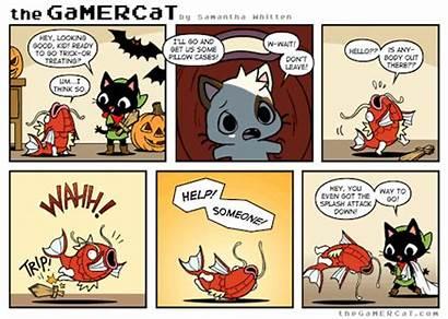 Gamercat Comics Halloween Comic Gaming Gifs Pokemon