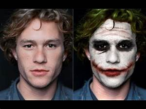 Heath Ledger to Joker Transformation with Photoshop - YouTube