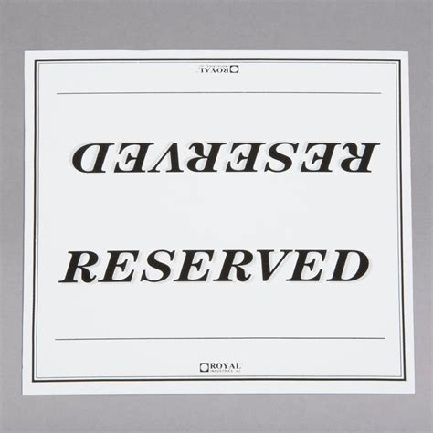 reserved sign 6 quot x 3 quot table tent sign quot reserved quot sided 250 pack