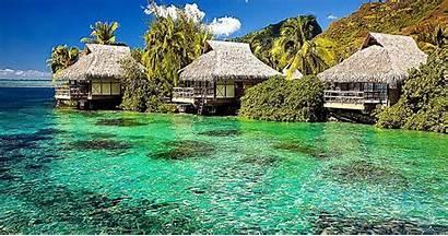 Island Tropical Screensavers Desktop Water