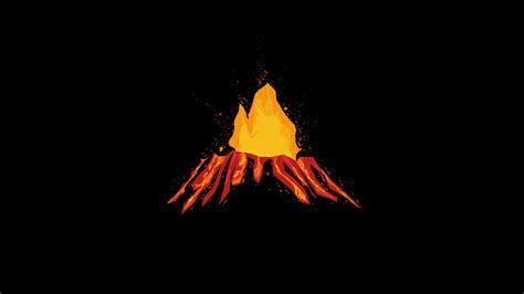 Vulkan (volcano) Minimal, Hd 4k Wallpaper