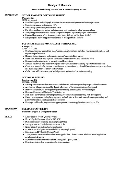 10 resumes for software testing proposal sle