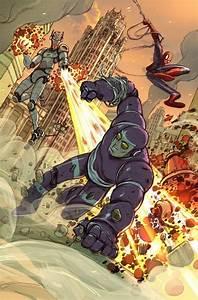 Machine Man & Spider-Man vs Ultron by Niko Henrichon ...