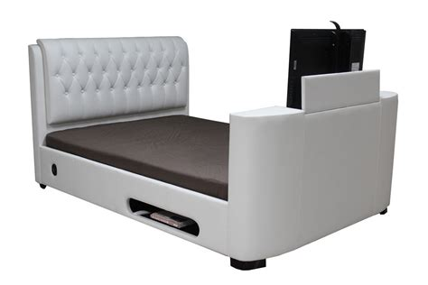 cheap king beds leather tv bed king white black brown