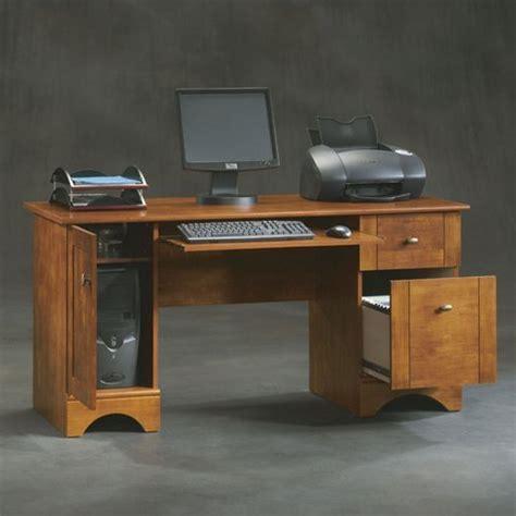sauder computer desk with keyboard tray sauder select computer desk with keyboard tray in cinnamon