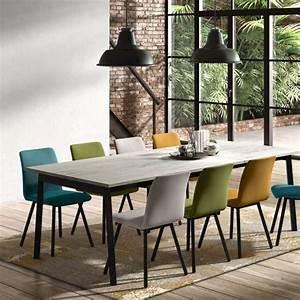 Table Bois Metal Avec Rallonge : table avec allonge en stratifi et m tal victoria 4 ~ Melissatoandfro.com Idées de Décoration