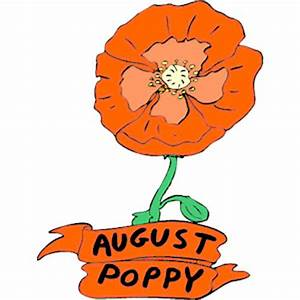 08 August - Poppy clipart, cliparts of 08 August - Poppy ...