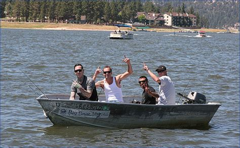Small Fishing Boat For Rent by Big Bear Marina Boat Rentals For Pontoon Fishing