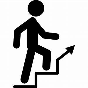 Man climbing stairs - Free people icons