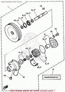 Yamaha V6 4 3 Stern Drive Engine 1990 Raw Water Pump Ass U0026 39 Y