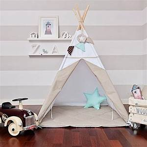 Zelt Kinderzimmer Nähen : teepee tent scandinavian white spielkeller co pinterest kinderzimmer tipi ~ Markanthonyermac.com Haus und Dekorationen