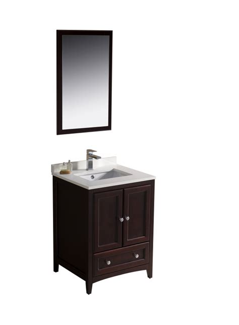 24 inch vanity with sink 24 inch single sink bathroom vanity in mahogany uvfvn2024mh24
