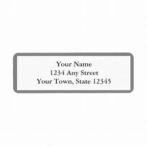 Gray white envelope return address labels zazzle for Envelope return address stickers