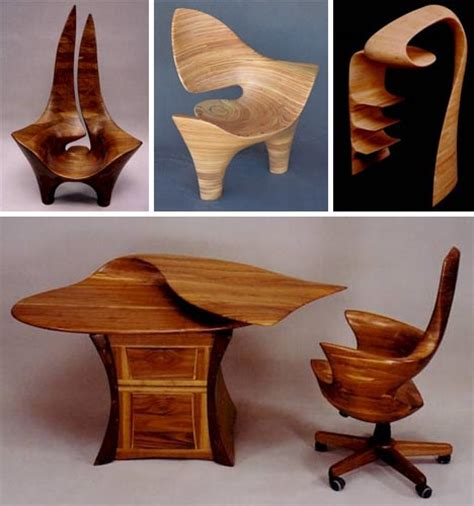 solid wood furniture set sculpted desks tables chairs