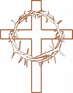 Cross With Crown Of Thorns Clipart - ClipartXtras