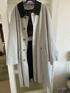 austin reed mens overcoat trench lined coat size  ebay